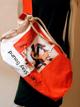 Load image into Gallery viewer, Can't Stay Bound Duffle Bag red canvas