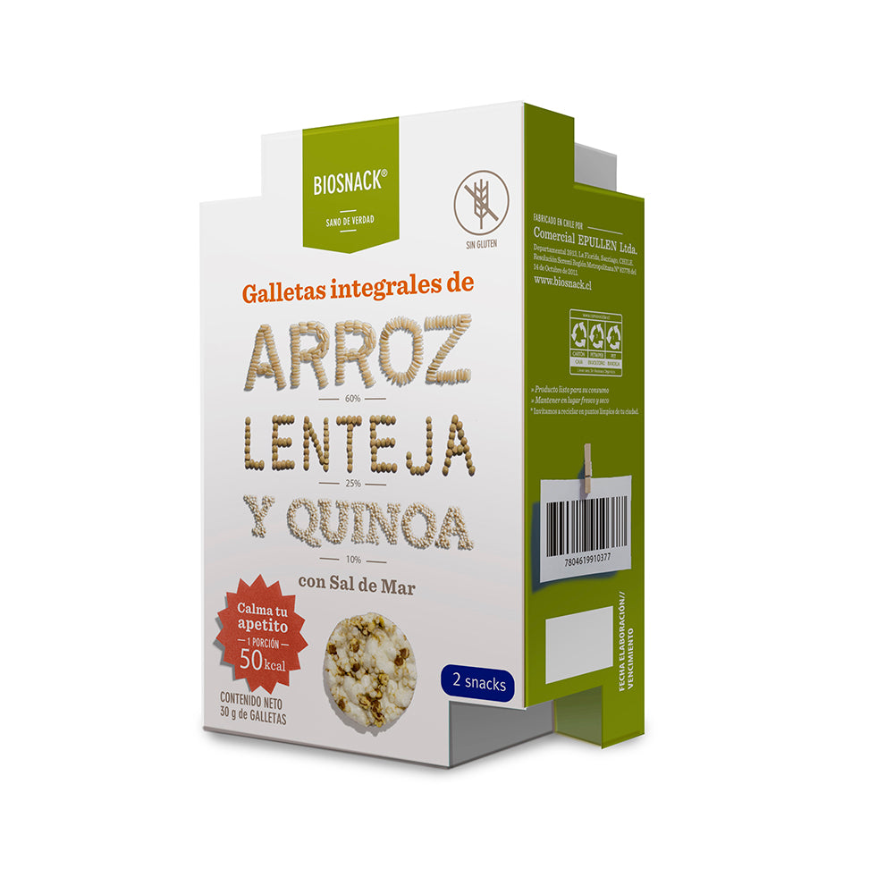 Galletas de Arroz Lenteja Quinoa