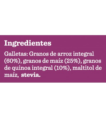 Galletas de Arroz con Stevia 2 Pockets
