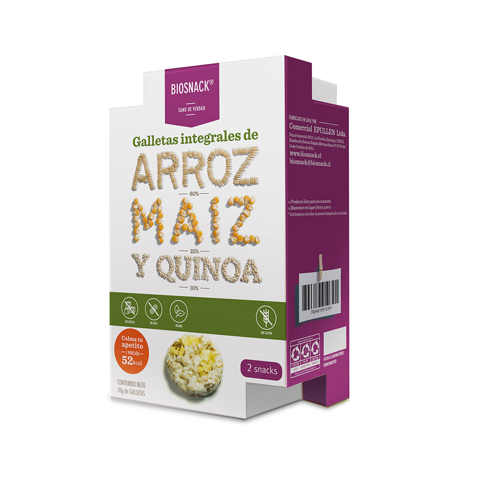 Galletas de Arroz con Stevia 2 Pockets (Junaeb)