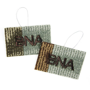 Christmas Tree Ornament made from authentic, brand-new BNA Carpet