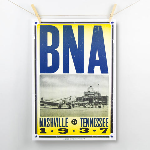 Exclusive BNA Hatch Show Print featuring vintage photograph from 1937.