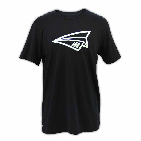 BNA Paper Airplane Black T-Shirt - Front