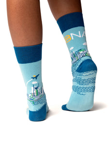 Nashville Skyline Socks - Back