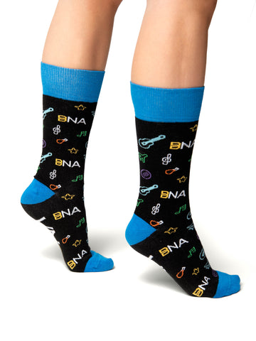BNA Nashville Pattern Socks - Side View