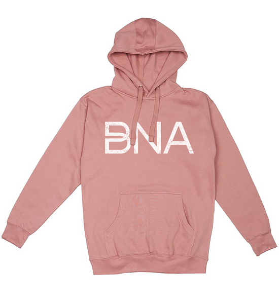Flat view of Dusty Rose BNA Logo Hoodie