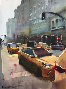 "New York Taxis (11"" x 15"")"