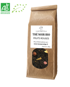 Thé NOIR BIO - Fruits Rouges. 100g
