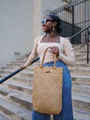 Geena Straw Tote