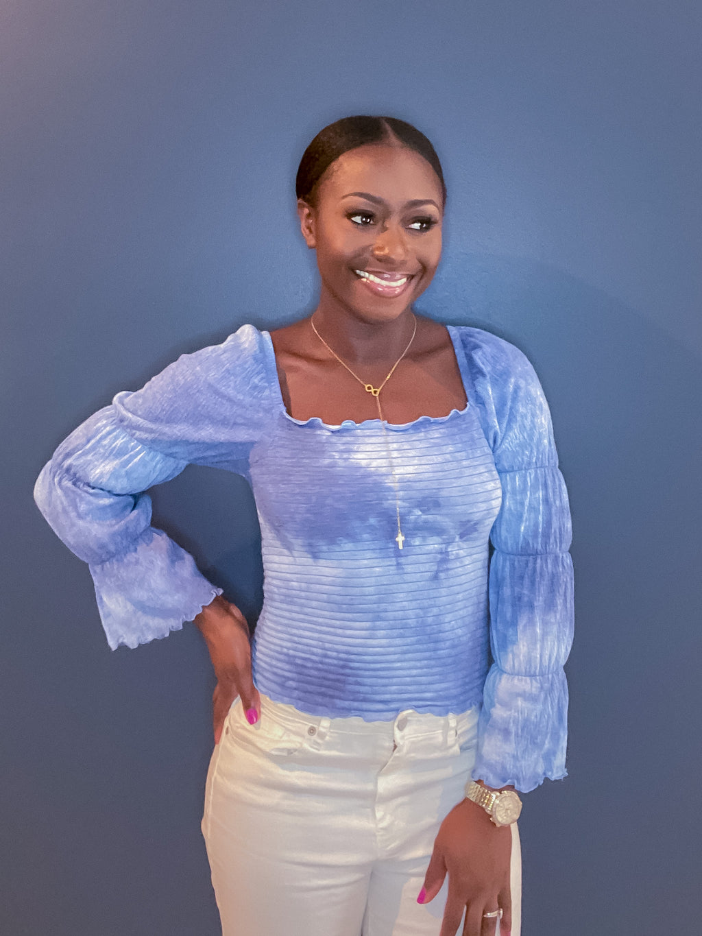 Trend Blouse- Blue