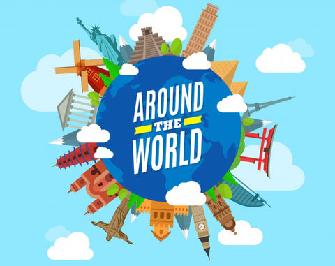 Around the World in 5 Days!  (K - 2nd grades)