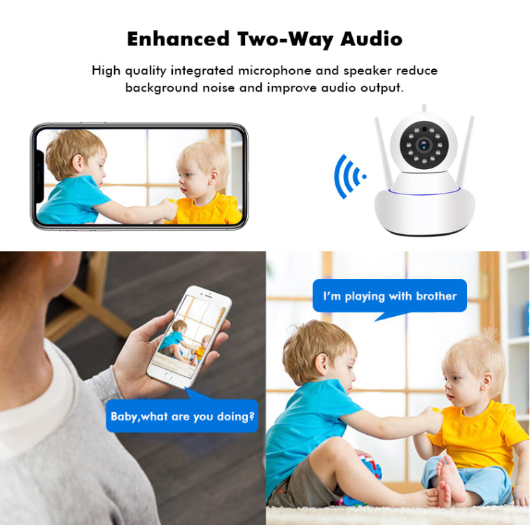 Electronics - Owlsy Wireless Wifi Indoor Security Camera System With 1080p IP HD Infrared Night Vision LED