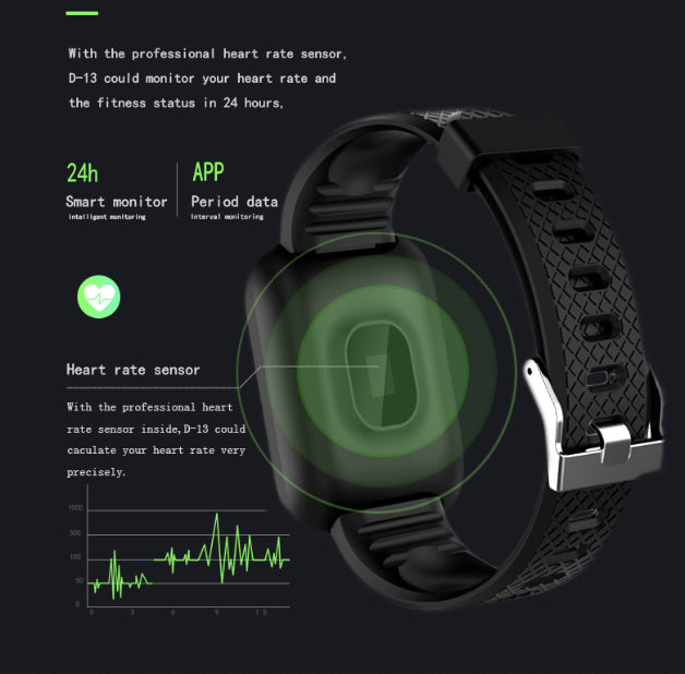 Electronics - Smartsy™ Fitness Tracker Smart Watch With Blood Pressure Sleep And Heart Rate Monitor