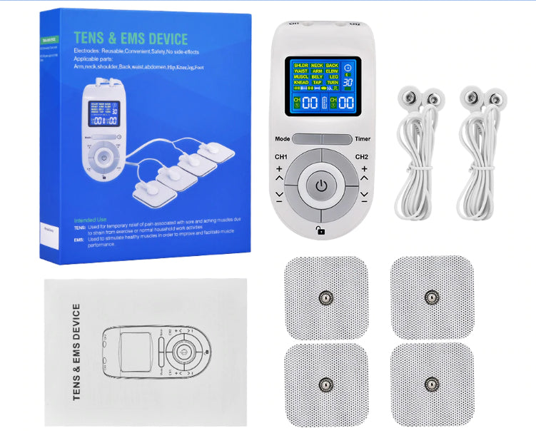 Fitness - Soothzz™ TENS Stim Unit And Electrotherapy Machine For Muscle Pain Relief - Best Device For Wireless Transcutaneous Electrical Nerve Stimulation