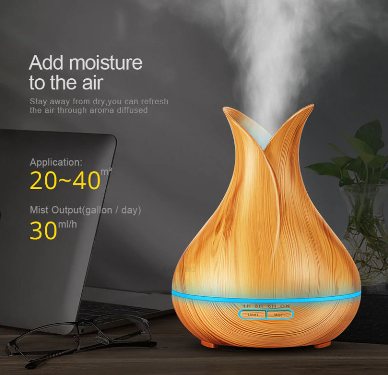 Health And Wellness - Soothzz LED Air Humidifier And Electric Essential Oil Diffuser - Best Aromatherapy For Home, Bedroom, Sleep And Migraine Headaches