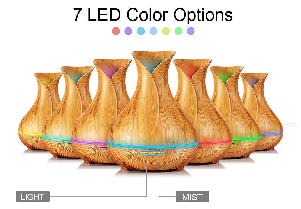 Health And Wellness - Soothzz™ LED Air Humidifier And Electric Essential Oil Diffuser - Best Aromatherapy For Home, Bedroom, Sleep And Migraine Headaches