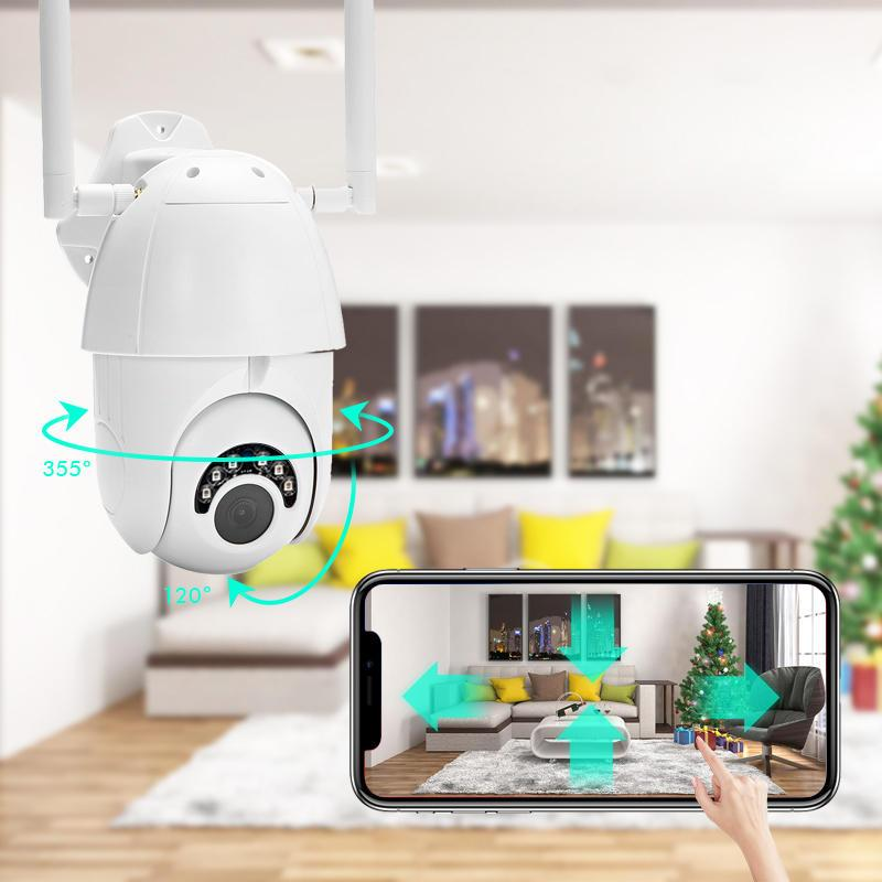 Owlsy 1080p 6-LED Wireless Wifi Outdoor Security Camera System with Motion Dectection plus Weatherproof, Waterproof, HD, Infrared, 5x Zoom, and Night Vision