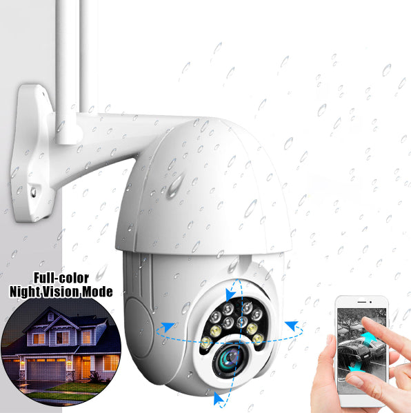 Owlsy 1080p Wireless Wifi Outdoor Security Camera System with Motion Detection Plus Waterproof, 10-LED, HD, Infrared, 5x Zoom, Night Vision Features