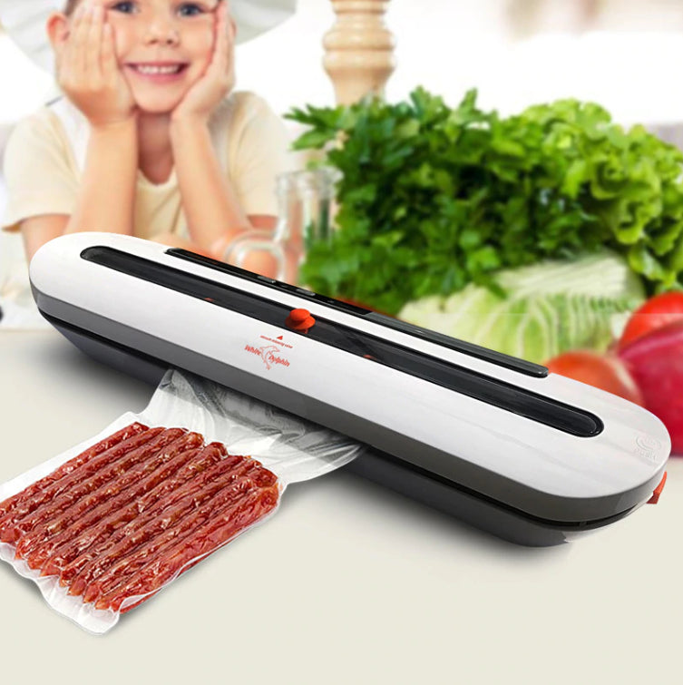 Kitchen And Bath - Foodsy™ Food Saver Vacuum Packing Sealer Machine - Best For Home And Kitchen - Includes 10 Storage Bags