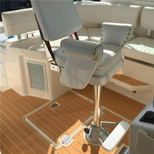 Synteak Brown and White Foam Sheet Synthetic Faux Teak Decking - Best For Bass Boats Yachts & Pontoons - Similar to Vinyl & EVA Marine Mat Flooring Options