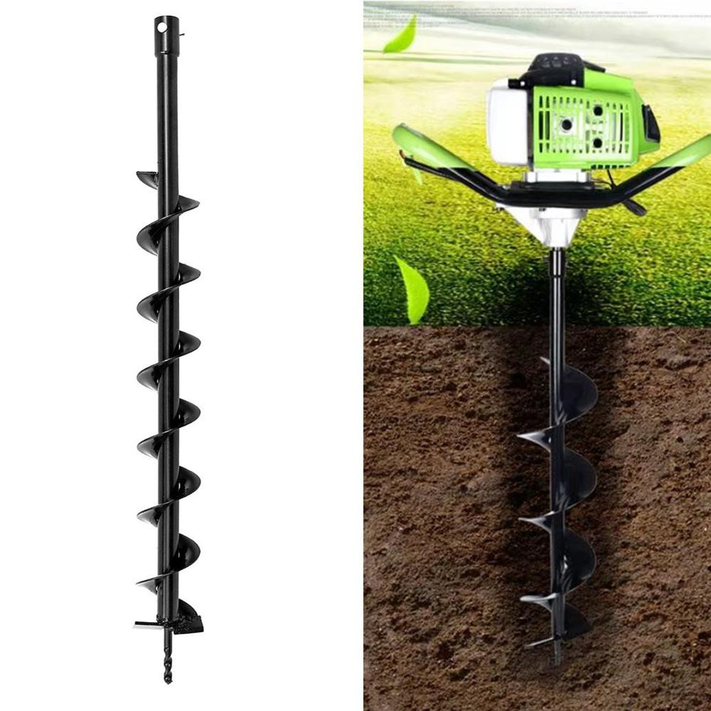 Drillsy 800mm x 80mm Earth Auger Drill Bit Post Hole Digger Best for Garden Soil and Ice