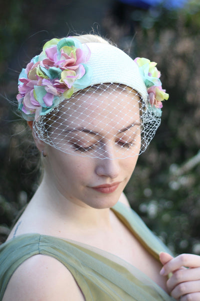 Bridal Flower Headband, Floral Headpiece, Wedding Fascinators