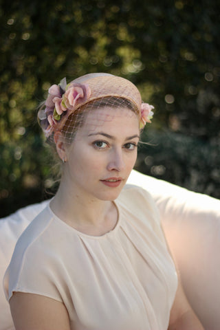 Flower Halo Crown Headband, Bridal Flower Headpiece, Wedding Fascinators