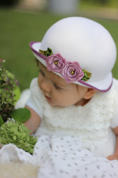 Baby Girl Bonnet, Toddler Girl Fancy Hat, Special Occasion Hats
