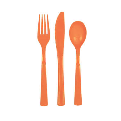 Orange Assortment Utencils 18ct.