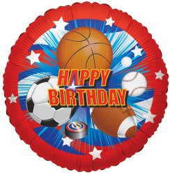 Sports Happy Birthday (one sided)