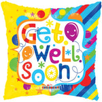 Get Well Soon Square 18'' Balloon