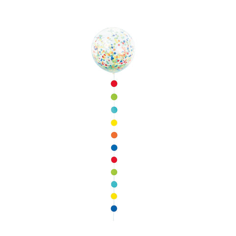 Confetti 24'' Balloon With Colorful Tail