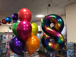 Rainbow 34' Number Balloon