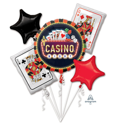 Roll the Dice Casino Balloon Bouquet 5pc