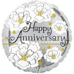 18' happy anniversary flowers Mylar Balloon