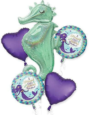 MERMAID WISHES SEAHORSE Balloon Bouquet