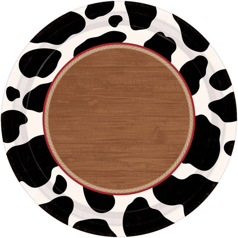 Yee-haw Cow Print Paper Desert Small Plates (12 ct) toy story