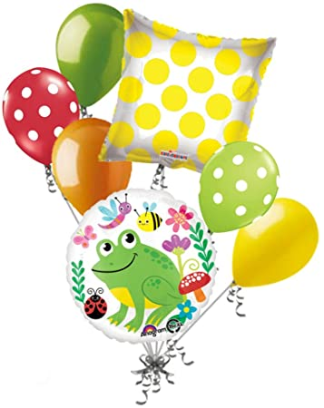 Frog & Friends Balloon Bouquet 7pc.