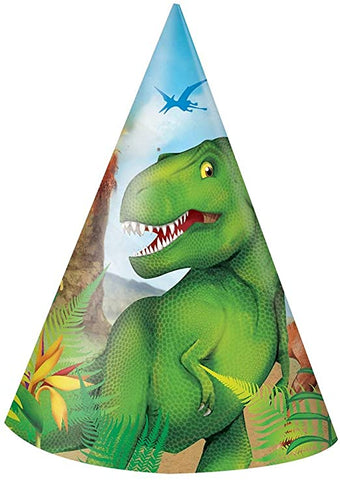 Dinosaur Party Hats 8ct.