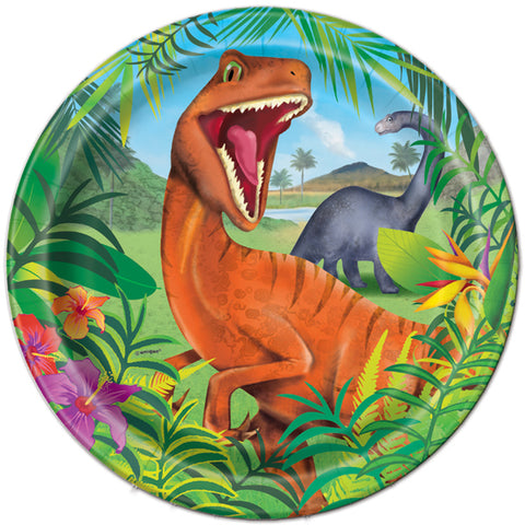 Dinosaur Lunch Plates, 9in, 8ct