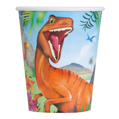 Dinosaur Paper Cups, 9oz, 8ct