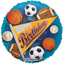 Happy Birthday Sports Pennant