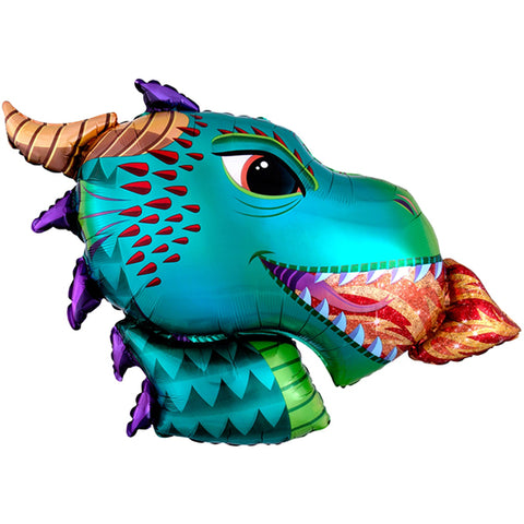 Dragon Head SuperShape Foil Balloon, 36in