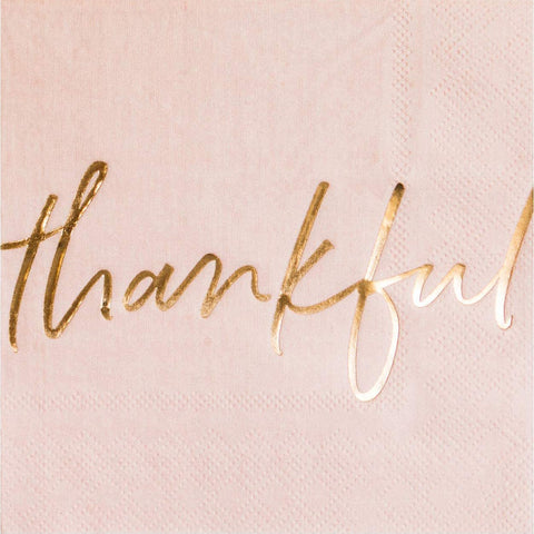 Blush Thankful Cocktail Napkins