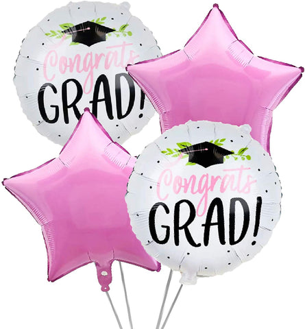 Pretty Pink Graduation Grad 4pc.