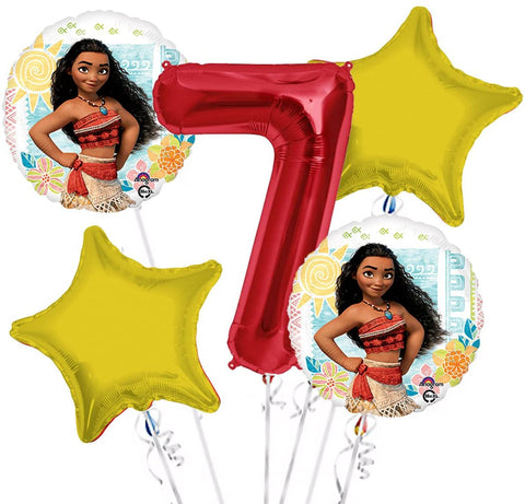 Moana Birthday Balloon Bouquet 5pc