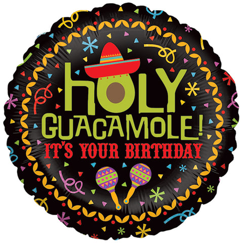 Holy Guacamole Birthday Foil Balloon, 18in