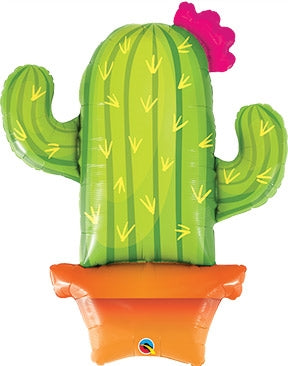 Potted Cactus Foil 39'' Balloon