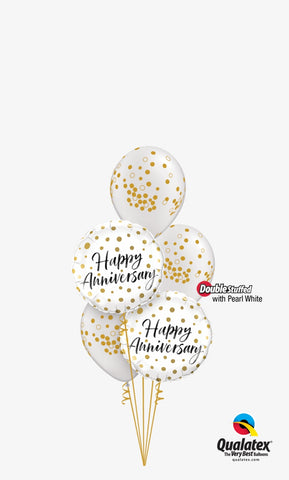 Anniversary Polka Dotted Bouquet 5pc.