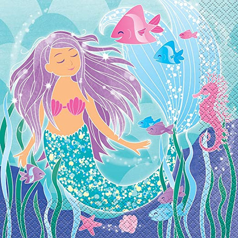 Mermaid Lunch Napkins 16ct.